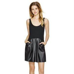 Aritzia Wilfred Pompe Faux Leather Dress size 4